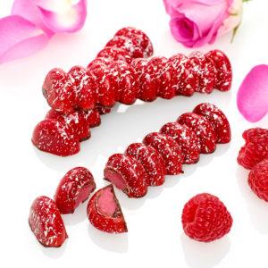 Raspberry and Rose Fondant Cream Chocolate Bar