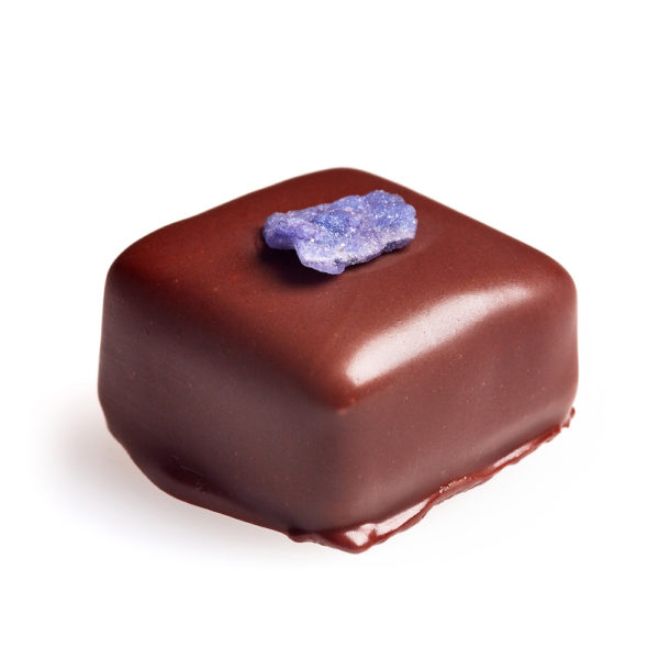 blackcurrant and violet chocolate