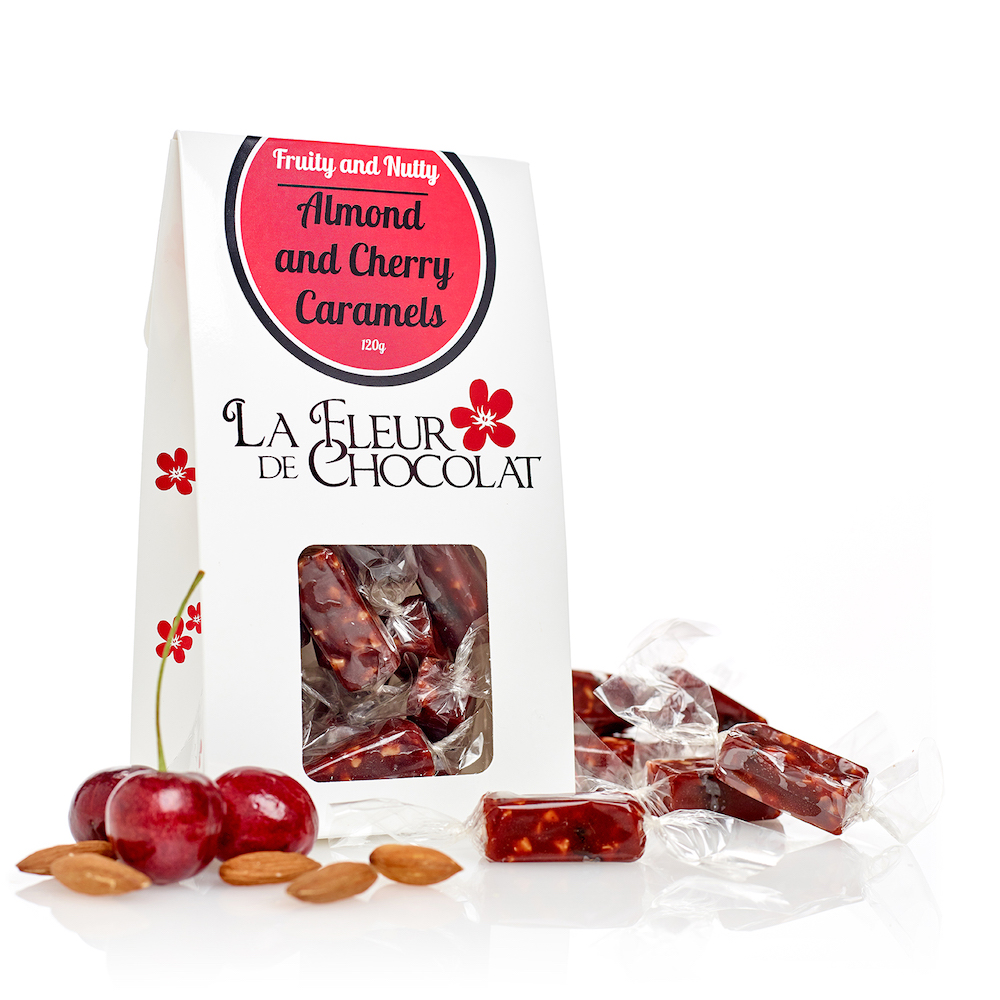 Almond and Cherry Caramels