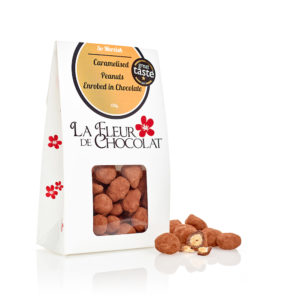 Caramelised Peanuts Enrobed in Dark Chocolate