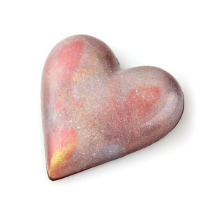 Caramel Pecan and Shortbread Candy Heart