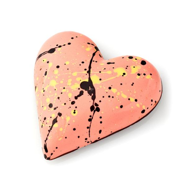 Vanilla Marshmallow, Passionfruit Ganache and Crunchy Almond Candy Heart