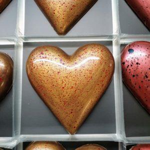 Popcorn Praline Chocolate Heart