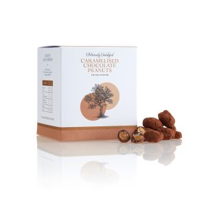 Caramelised Peanuts Enrobed in Dark Chocolate
