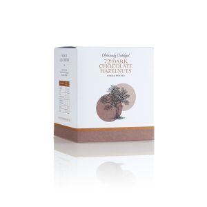 Cocoa Dusted 72% Dark chocolate Hazelnuts