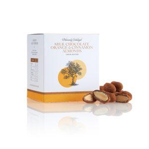 Milk Chocolate Orange and Cinnamon Almonds