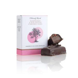 Raspberry and Kalamansi Caramel Chocolate Bars