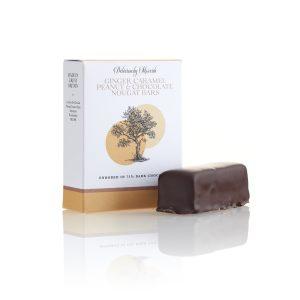 Ginger Caramel Peanut and Chocolate Nougat Chocolate Bars