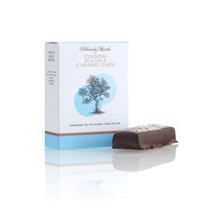 Cornish Sea Salt Caramel Bars in 72% Dark Chocolate